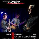 De 3BS, Ben van Gelder (sax), Reinier Baas (gitaar) en Han Bennink (drums)